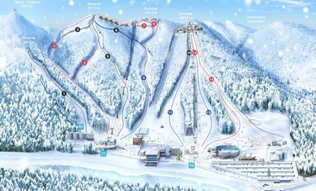ТОП 10 Лучших горнолыжных курортов России