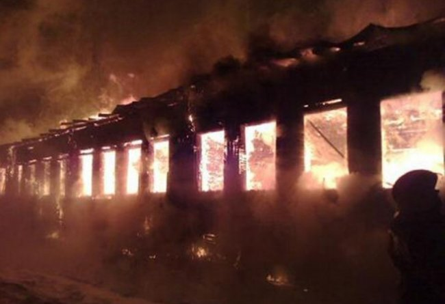 Самые крупные пожары в России